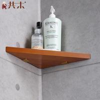 Bathroom Supply High-grade Continental Wooden Tripod Bathroom Toilet Authentic Corner Shelves Storage Racks Accessories Quality