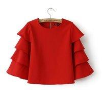 Spring Summer 2015 New Fashion Vintage Women Blouse British Style Fashion Blusas Shirt Women Free Shipping