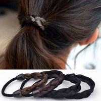 10pcs Lot  Fashion Women's Hair Rope Plaits Stretch Rubber Band Braid Hair Extensions Dough-twist Style Plaits