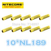 FREE SHIPPING ORIGINAL 10 Pcs NL189 Nitecore 18650 Li-ion Rechargeable Battery 3400mAh 3.7V 12.6Wh