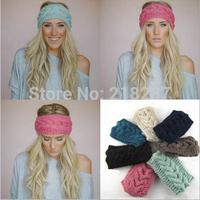 Free Shipping!2015 New Women's Girl's Crochet Headband Knit hairband Flower Winter Ear Warmer Braid Headwrap