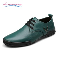 Spring Fashion Trend Green Flats For Men Autumn Designer Shoes Genuine Leather Moccasin Flats Size 37 38 to 43 44 45 46 47 48