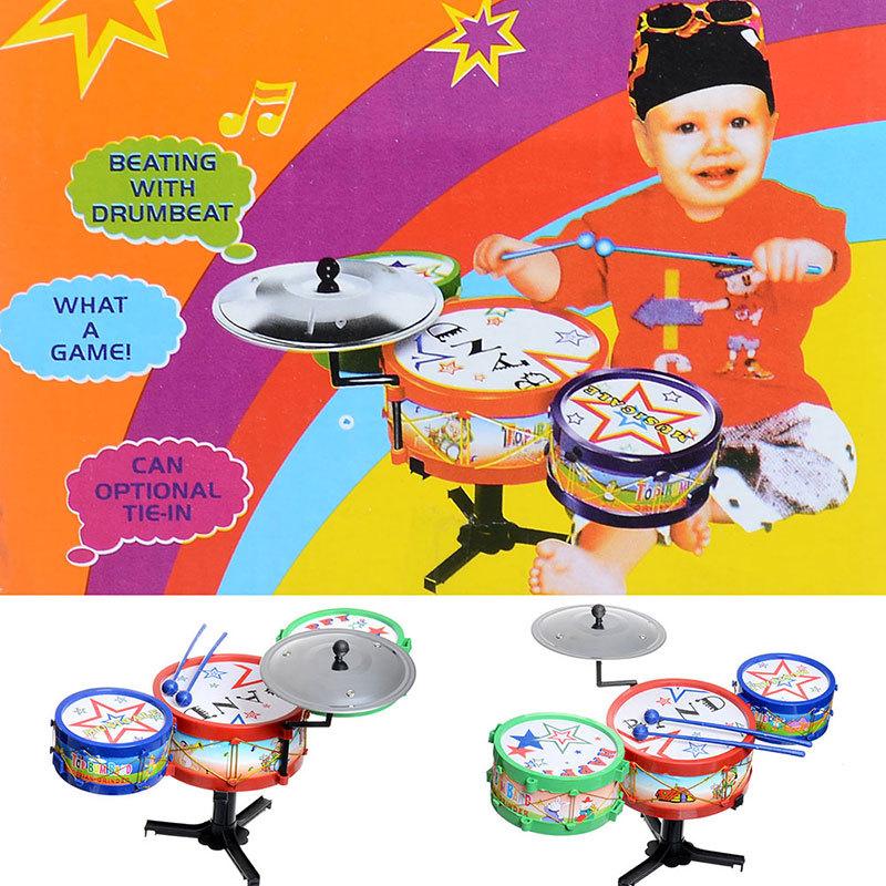 Cartoon Jazz Band Jazz Rock Band Drum Kit