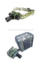 20PCS/LOT MINI Army Headlamp CREE Q5 LED 160Lumen AA/14500 Battery Zoomable Headlight Bike Bicycle Light headlamp