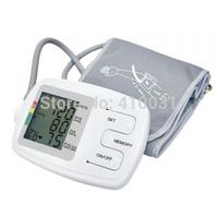 LCD Upper Arm Digital Blood Pressure Monitor Irregular Heart Beat Detector Cuffs Diastolic Systolic Meter Pulse Rate Gauge Home