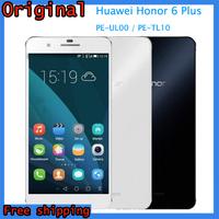 "Original 4G Huawei Honor 6 Plus PE-UL00 / PE-TL10 5.5"" IPS Screen Android OS 4.4.2 Phone Hisilicon Kirin 925 Octa Core 1.8GHz"