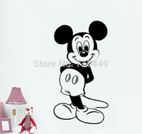 Mouse girl wall art stickers decal drop shipping