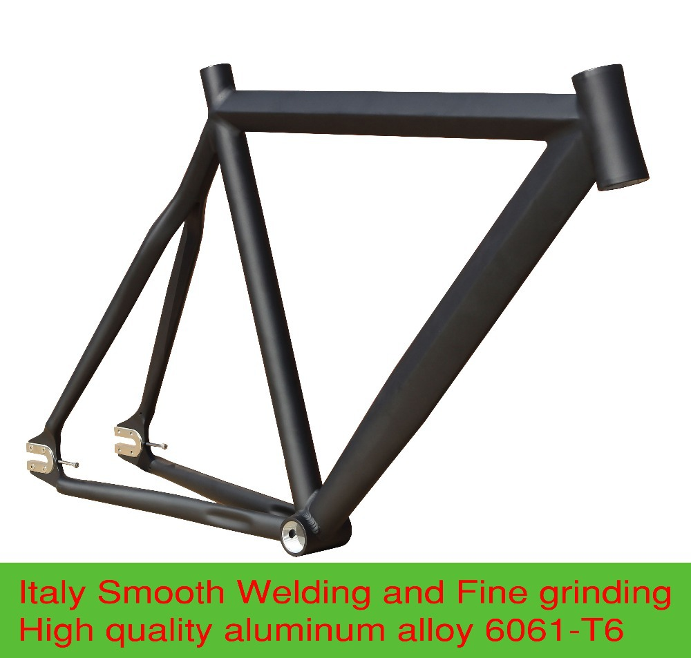 Crazy Price 52/55CM Smooth Welding Aluminium Alloy Fixie Fixed Gear Frame Track Bike Bicycle Parts Free shipping(China (Mainland))