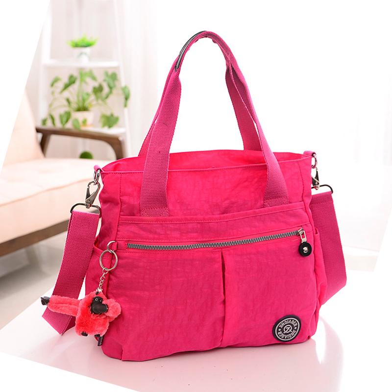 Say Buy 10 Color women's solid travel waterproof handbag shoulder messenger nylon bags for ladies female bolsa monkey casual(China (Mainland))