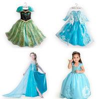 Frozen Elsa dress Fashion  Summer Girl  dress Princess Dress longsleeve diamond dress Elsa Costume