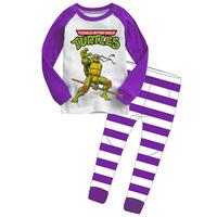 Retail Teenage Mutant Ninja Turtles boys children cartoon long sleeve clothing sets Pajama Sets kid's clothing suits sct008