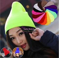 Free-Shipping-Hot-Sale-2014-Fashion-Knitted-Neon-Women-Beanie-Girls-Autumn-Casual-Cap-Women
