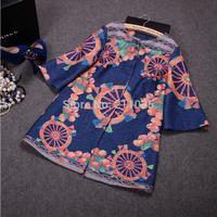 D50 female  plus size autumn Winter O-neck long-sleeved Cardigan wool long coat woman fashion loose wool blends coat B01 GD11120