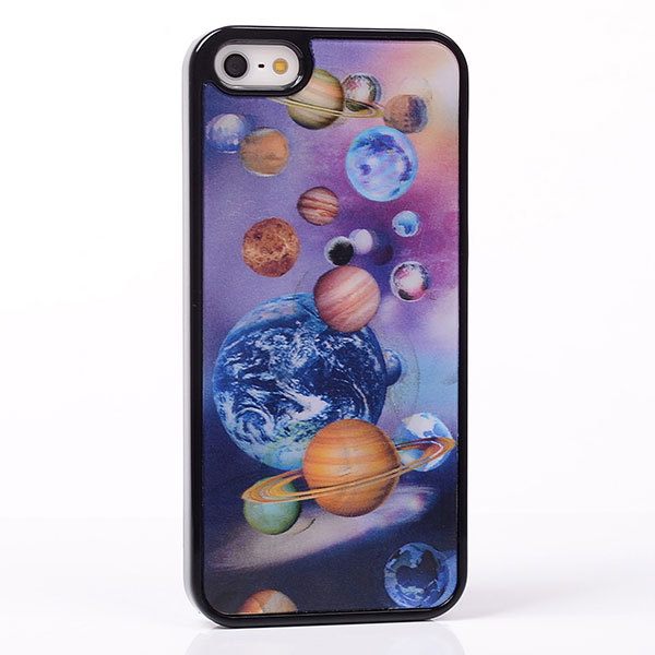 3D effect Earth Plant Universe Outer Space case cover skin for iphone 5 5S hard back(China (Mainland))
