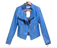 Zipper Style Leather Women Autumn Winter Jacket Outwear Coat Short Tops