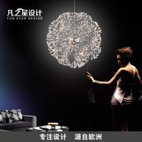 Dandelion creative led chandelier crystal lamp living room luxury minimalist modern Scandinavian restaurant atmosphere lamp bedr