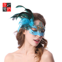 2015 new arrival LUXURY fashion Princess masquerade masks beauty gorgeous halloween cosplay personality feather mask