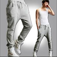 Mens Harem Pants For Men Casual Sports Pants Desgual Jogger Dance Baggy Pants Men/Casual Plus Size Men Sportwears Free Shipping