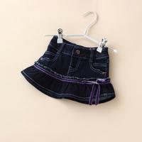 Toddler Baby Girls Denim Skirt Fashion Short New Arrival Casual Autumn High Quality Cute Skirt Children Clothing 4pcs/LOT