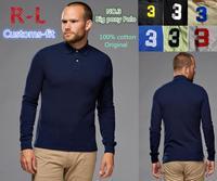 BNWT R-L NO.3 Arm patch Men Custom-fit Big Horse original tshirt/long sleeve men Golf/100% cotton,original casual brand shirts