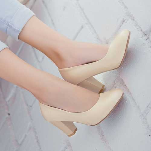 Big size 34-43 Pumps Sexy Vintage Chunky Heel Office Lady Casual Shoes Sweet Casual Shoes Platform Pumps for Women 2015(China (Mainland))
