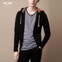 free shipping Specials Fashion 100% cotton solid color comfortable seven-color sweater men coat wholesale