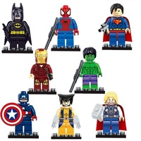 Marvel Super Heroes Series 8 Pcs Set Minifigures Building Toys New Kids Gift Free Shipping