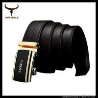 popular  luxury belt fashion metal buckle genuine leather brown belts for men strap fashion deisgn cowhide leather strap belt