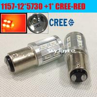 2X White/RED led 1157 BAY15D CREE + 5730 samsung emitter led braking lamp car parking accessories DRL turn signals bracking lamp