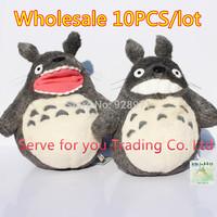 Wholesale 10PCS.MY NEIGHBOR TOTORO STUDIO GHIBLI 28CM GRIN TOTORO SOFT PLUSH DOLL.Cartoon Totoro Plush Smiling Toy.Free Shipping