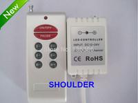 Free shipping DC5V DC12-24V 6A led strip controller plastic shell RF 8Key RGB Controller
