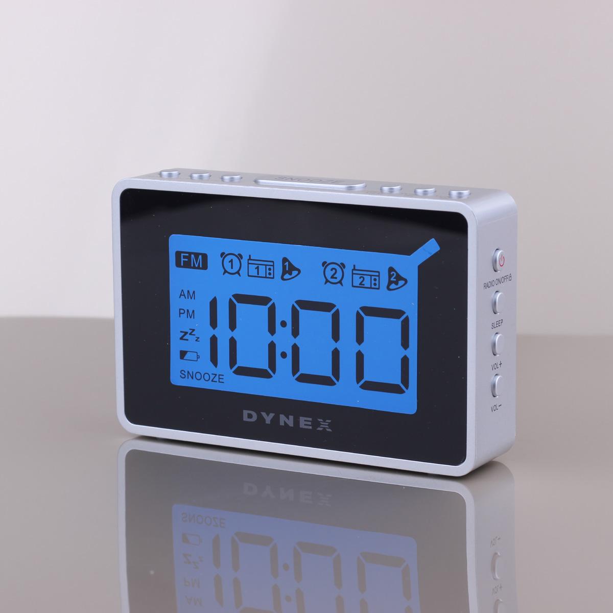 LED Digital radio alarm clock with blue backlight two groups alarm clock FM clock radio table clock thermometer radio relogio 15(China (Mainland))