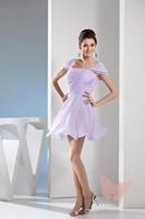 Purple square collar lovely Prom Dresses