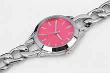 New Model Fashion red pink blue dial bracelet women wristwatches luxury lady watch Stainless steel