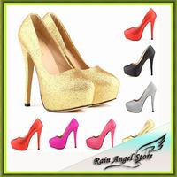 2015 New Nightclub Star Models Bridal Shoes Super High Heels Shoes Women Platform Shoes Heels Pumps Size 42