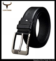 popular casual cowskin belts for men jeans strap genuine leather male alloy pin buckle cinto masculino male belt for business