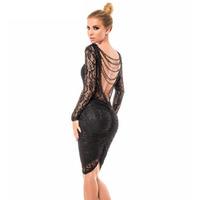 Fashion  Women Sexy Clubwear Bodycon Dress Lace Dress Sexy Women Backless Evening Party Dress  ZHX