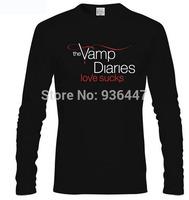THE VAMPIRE DIARIES TV SHOW SHORTSLEEVE T-SHIRT FASHION LOVER CAMISA MASCULINA TEE 22