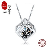 fashion brand necklaces for women 2014 ST-PURE 925 Necklaces sterling silver jewelry Pendant accessories