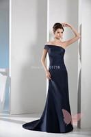 Long single shoulder prom dress.