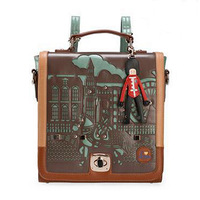 Fashion 2015 Hot Women Little Prince PU Leather Casual Retro Girls Messenger Bags