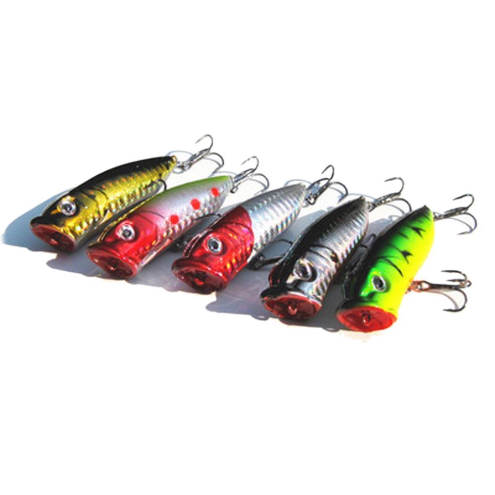 Friendly pesca 5pcs lot plastic fishing lures fishing bait minnow bass Floating lure fishing tackle Hooks