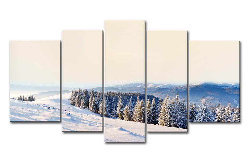 Adet duvar sanat resim kış dağlar sahne baskı resim tuval
