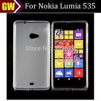 100pcs/lot Free Shipping Soft Matte Pudding TPU Jelly Case for Nokia Lumia 535