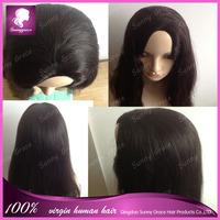 Grade 6A 100% Virgin Brazilian Human Hair U Part Bob Wig Natural Black Short Bob Wig In Stock Fast Delivery