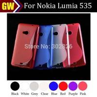 100pcs/lot Free Shipping Anti Skid S Line TPU Gel Skin Case Cover for Nokia Lumia 535