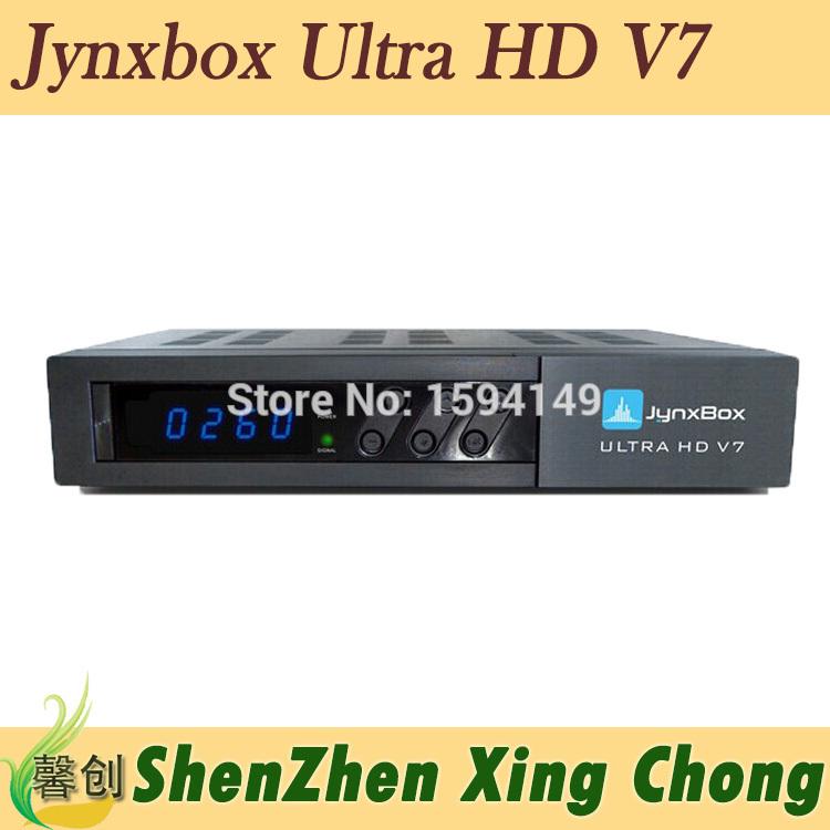 satellite receiver jynxbox ultra hd v7 fta iks jynxbox v7 fta hd receiver Free JB200 Module hd tv antenna satellite antenna(China (Mainland))