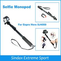Handheld Extendable Phone Camera Self-timer Monopod Tripod Holder for SJ4000 GoPro HD Hero3+ 2 3 Carmera