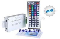 free shipping DC12V-24V 3 channels 12A high quality aluminum shell RF 44key RGB controller
