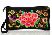 National chinese characteristics ethnic embroidery clutch double-sided embroidered shoulder messenger bag small travel handbag